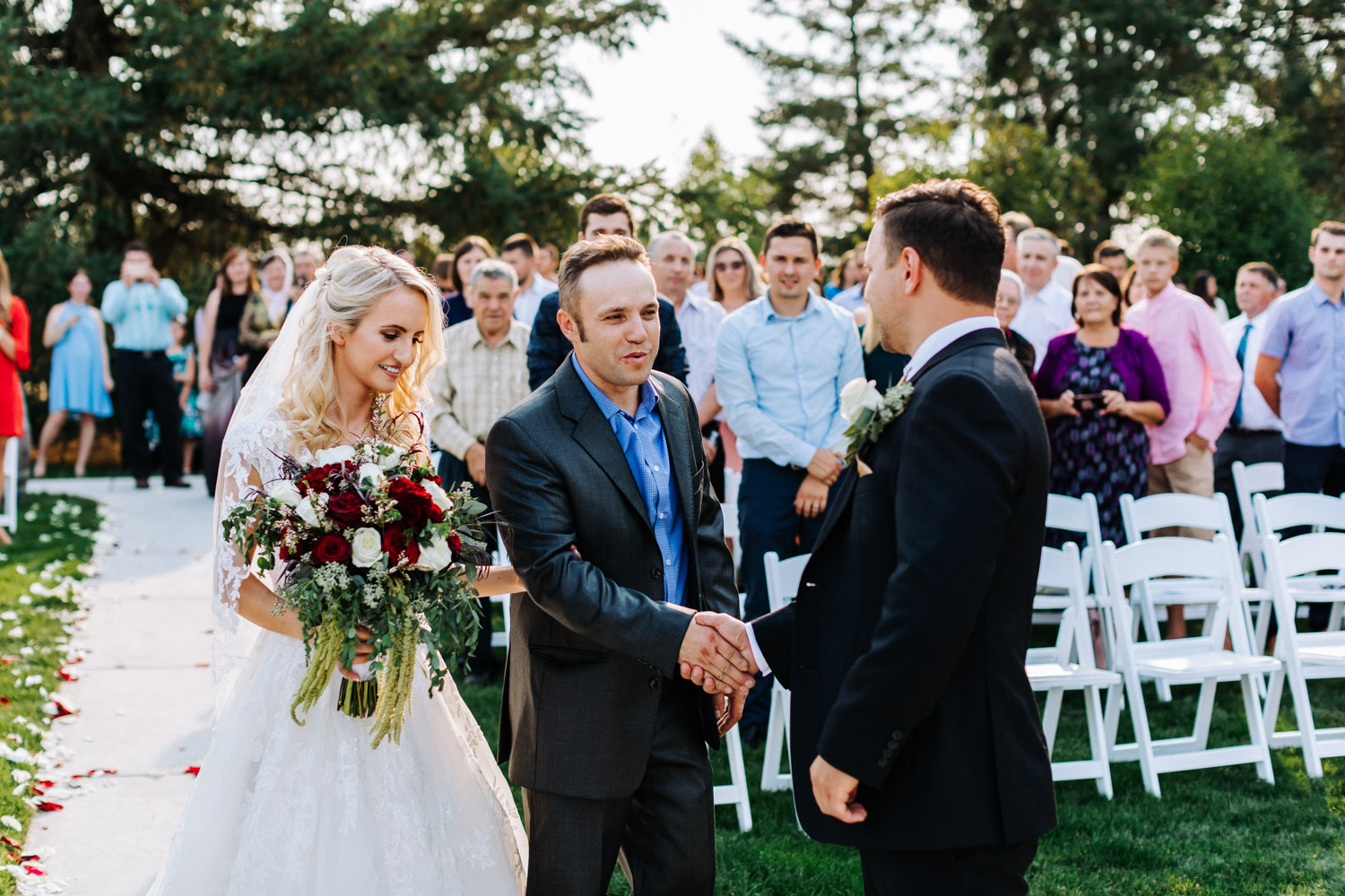 Father Handing Off Bride